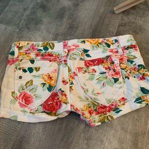 Vanilla Star Shorts - Floral Denim shorts
